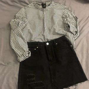 TOPSHOP gingham shirt